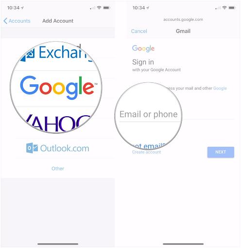 вікно поштового додатка в iOS