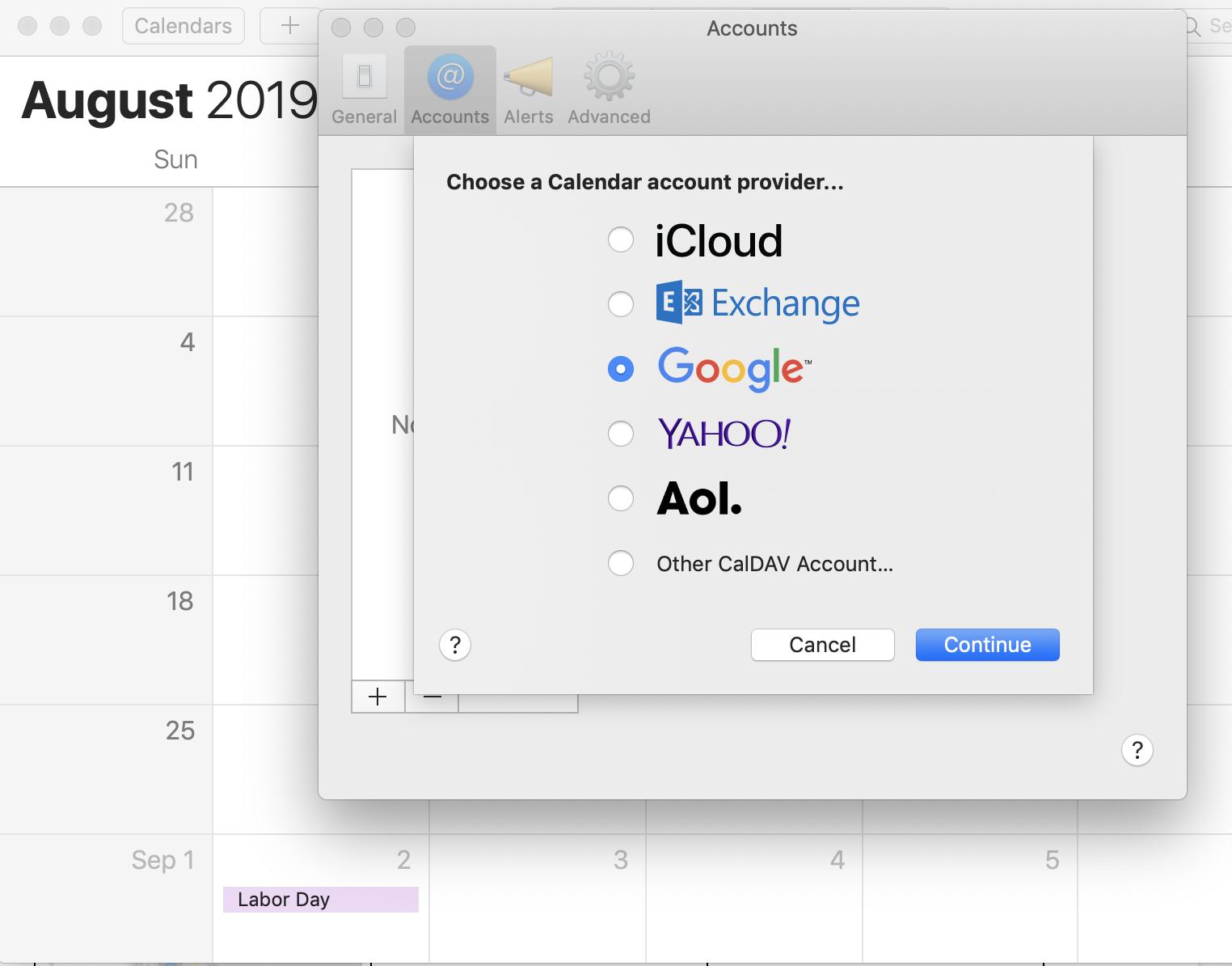 вікно поштового додатка в Mac OS