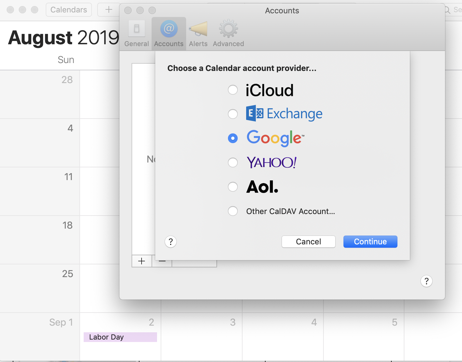 mail app view Mac OS