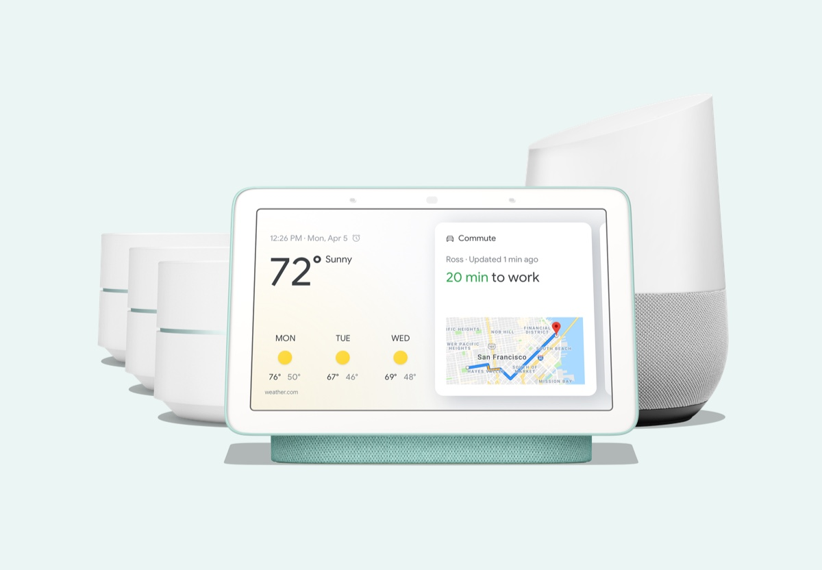 Google Home Hub, Google Home, Google Wifi