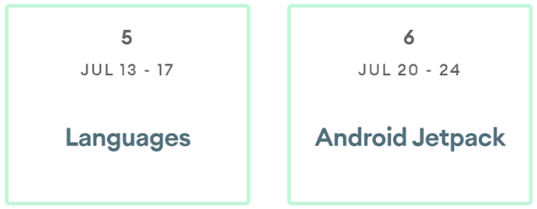 Calendar icons with dates