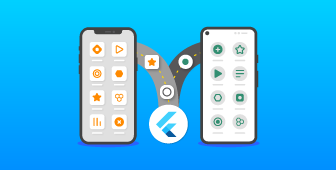 'Accelerating apps with Flutter' podcast icon