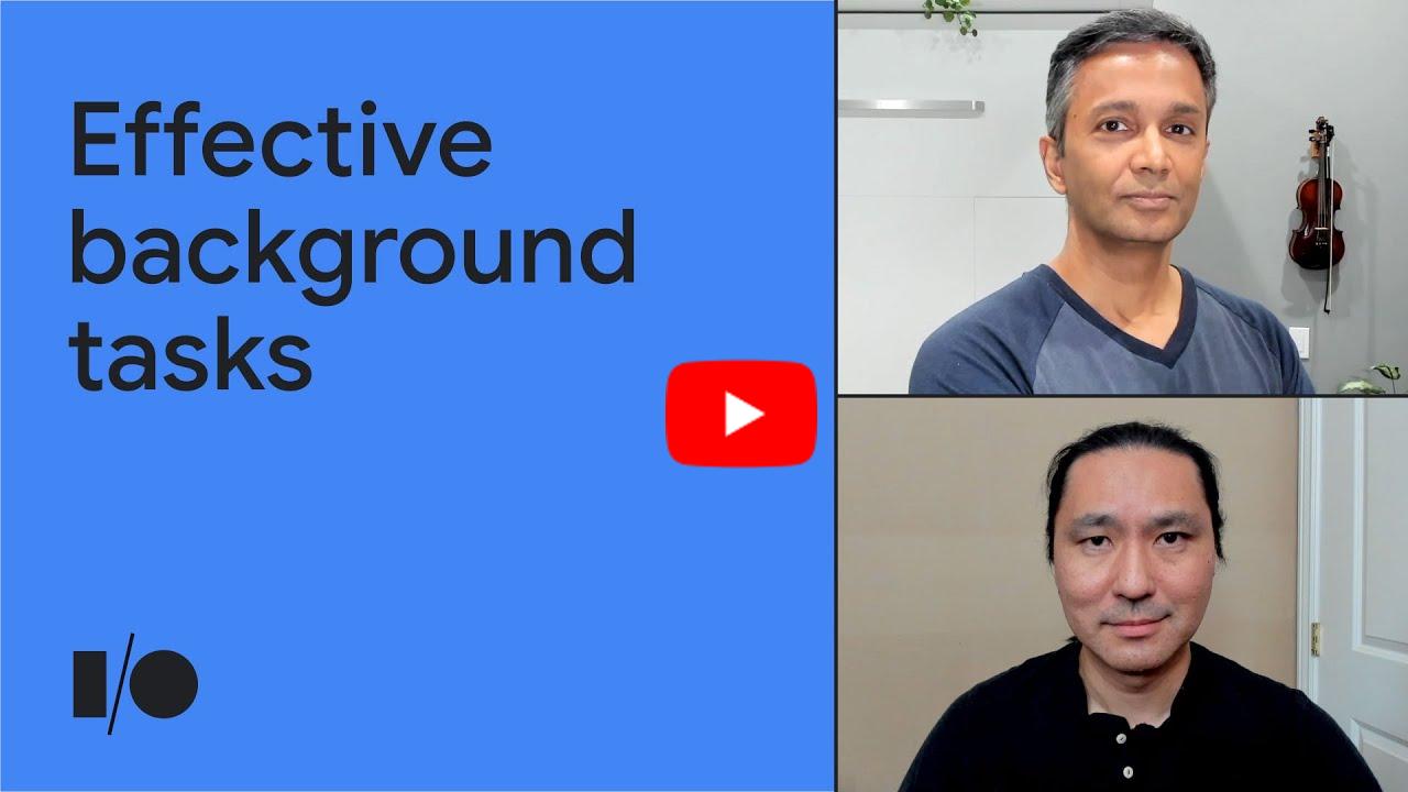 Effective background tasks