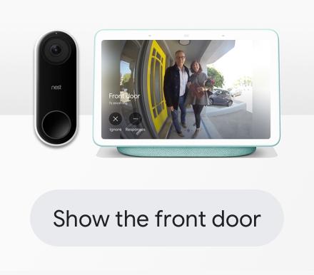 Show the front door