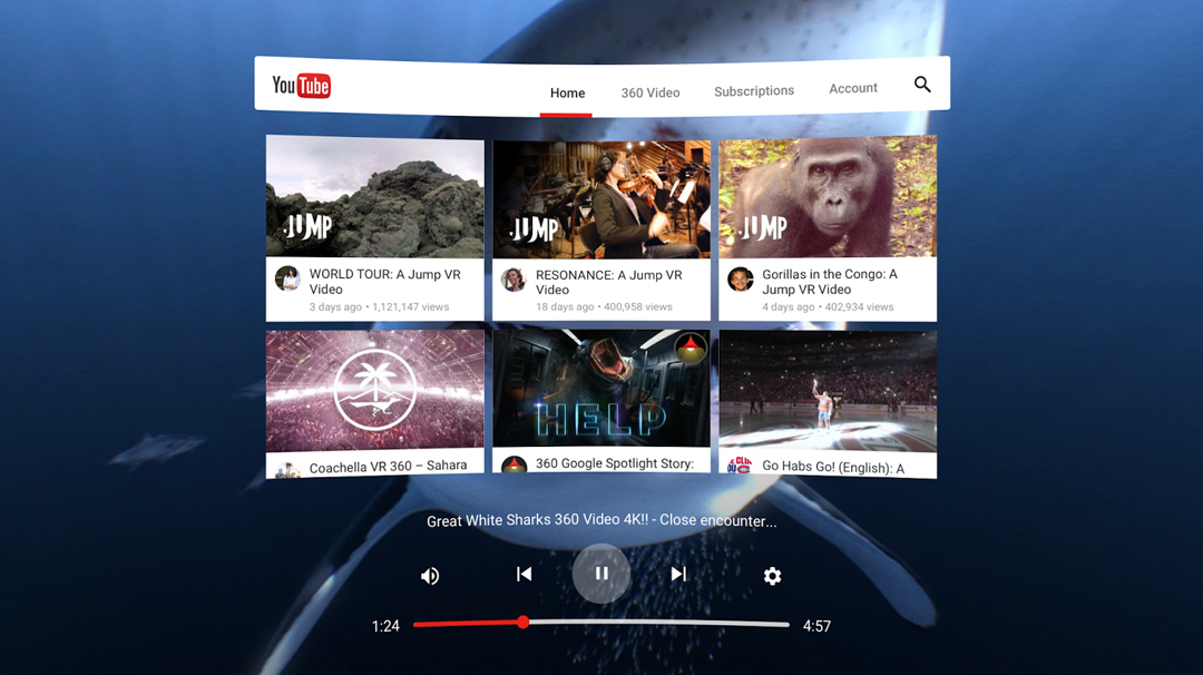 New YouTube VR app unveiled