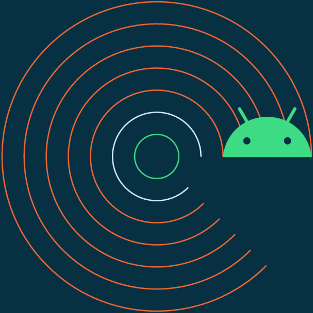 Android 11 abstract circle with android